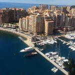 Vue de Fontvieille depuis le rocher de Monaco