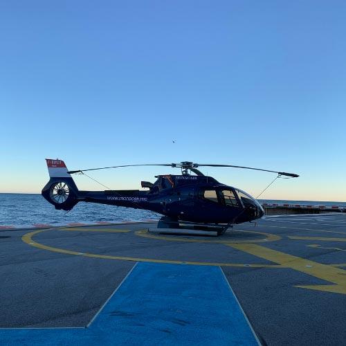Platefeforme d'atterrissage pour hélicoptère à Fontvieille