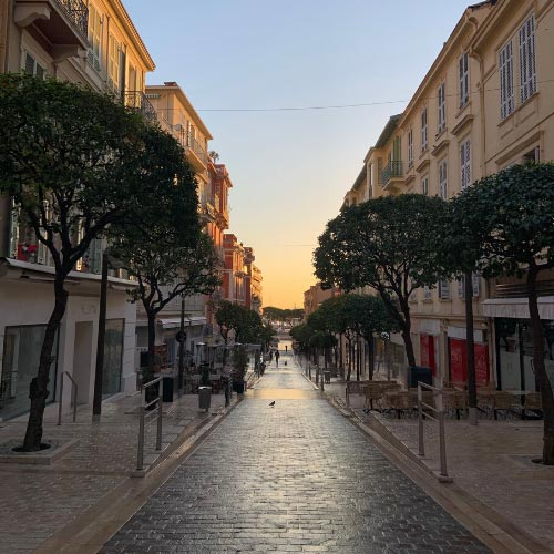 Small street in the La Condamine district