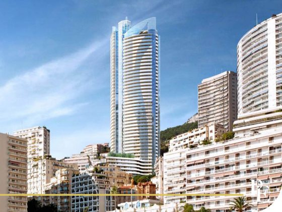 View of the La Rousse district with the Odeon Tower