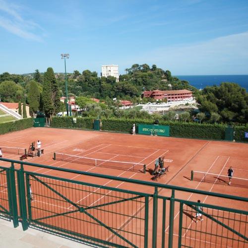 Terrains de tennis au Country Club