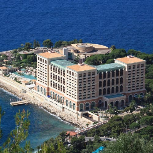 Aerial view of the Larvotto Casino