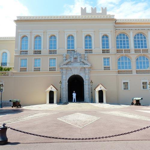 Facade of the Princely Palace in Monaco-ville