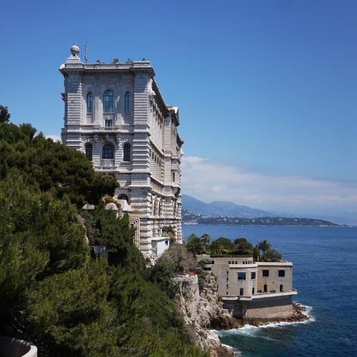 Facade of the Oceanographic Museum in Monaco-ville