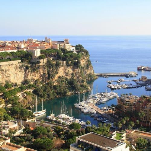 vue sur le rocher de Monaco
