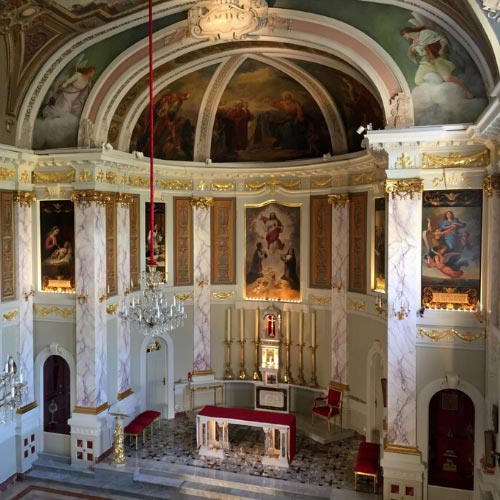 Church of the Sacred Heart in Moneghetti