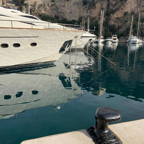 Marina in the Fontvieille district